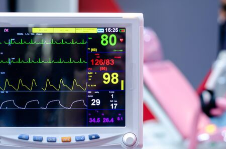 Photo for Close-up of Multiparameter Patient Monitor. - Royalty Free Image