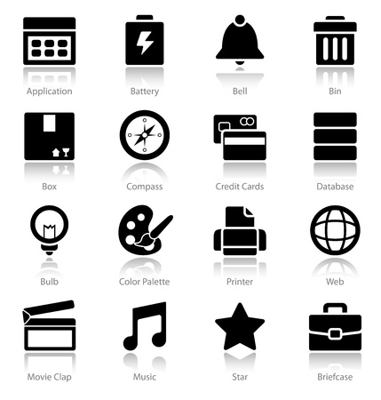 A clean set of web icons