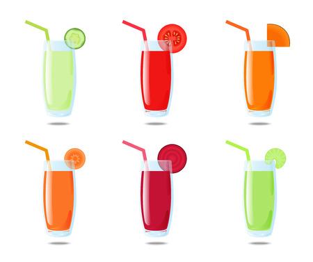 Set 6 vegetable juice: cucumber, tomato, pumpkin, carrot, beet, celery