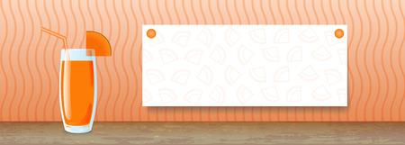 Juice Banner. Pumpkin