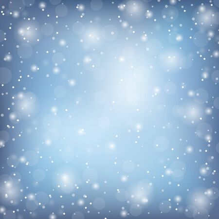 Illustration for Winter frame with snow. Vector natural template - Royalty Free Image