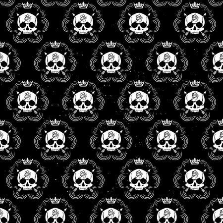Pattern Pirate Skull Wallpaper For Tattoo Parlor Gráficos