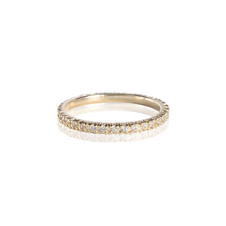 Photo pour Diamonds Wedding three colors Ring group on white isolated - image libre de droit