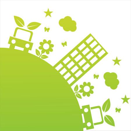 green ecological illustration