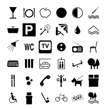 Ilustración de Hotel symbols - Imagen libre de derechos