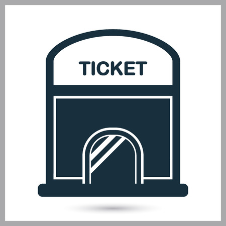 Cinema ticket office icon. Simple design for web and mobile
