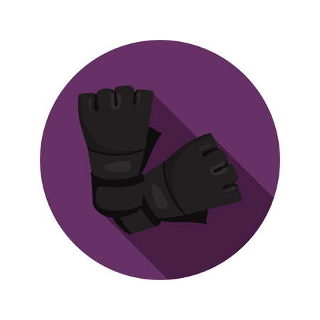 Fighting pritection mitts color flat icon for web and mobile design