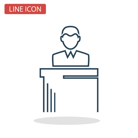 Lawyer line icon for web and mobile design