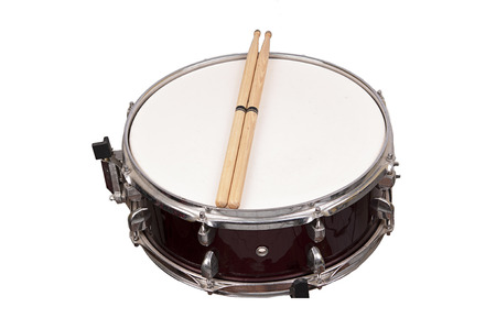 snare drum isolated on white background