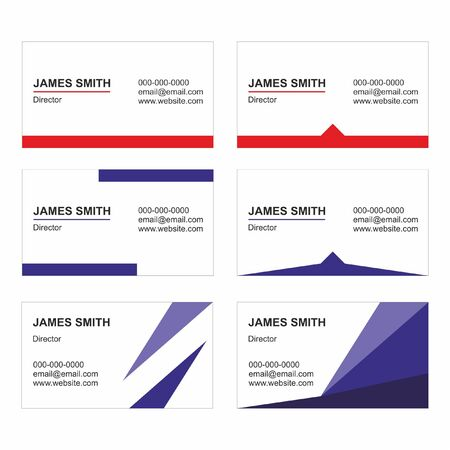 Illustration for Business Card Templates set vector - Printable - Royalty Free Image