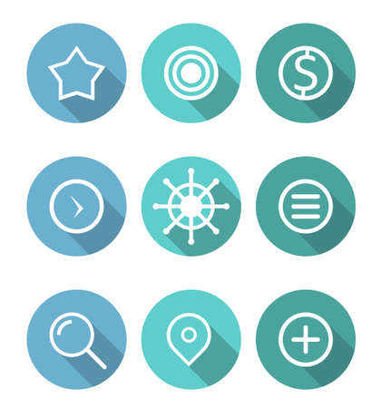 Illustration for Business icon set design vector - Royalty Free Image