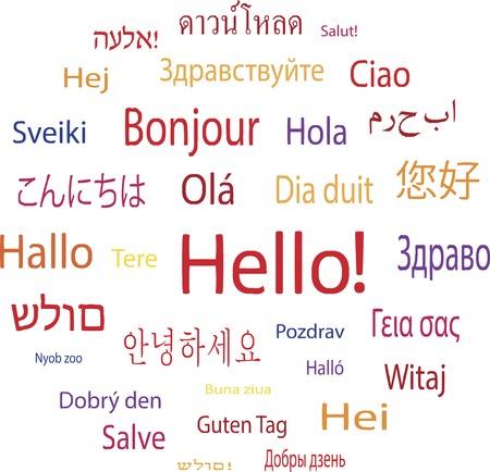Illustration pour Hello word in languages of the world  Vector illustration  - image libre de droit