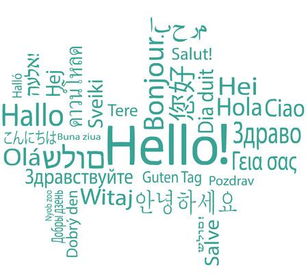 Hello, different languages.