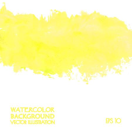 Yellow banner for web design. Vector illustration.