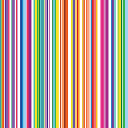 Ilustración de Colorful striped abstract background, variable width stripes. Vertical stripes color line. Seamless pattern design for banner, poster, card, postcard, cover, business card. - Imagen libre de derechos