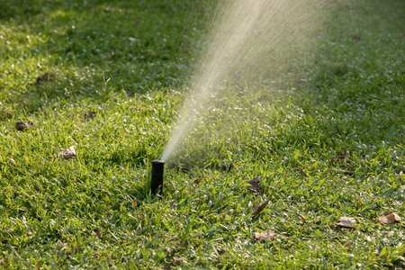 Garden Irrigation system spray watering lawn