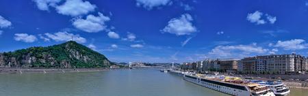 Panorama view of Gellert Hill and Danube
