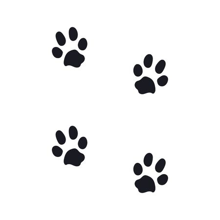 Illustration for footprints from a large dog. eps10 vector stock illustration - Royalty Free Image