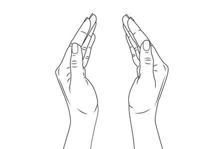 Illustration pour Women's hands. Vector stock illustration eps10. Isolate on white background - image libre de droit