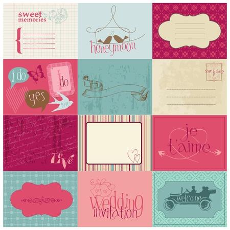 Ilustración de Wedding Design Elements -for invitation, scrapbook in vector - Imagen libre de derechos