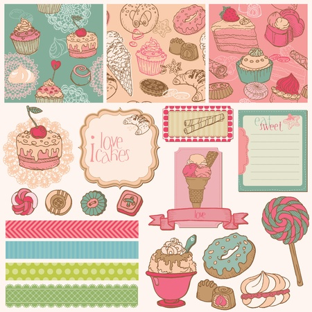 Scrap set with Cakes, Sweets and Desserts