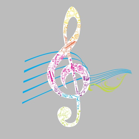 Set of Musical Notes Illustration - in vector
