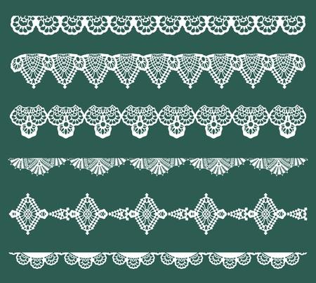 Ilustración de Set of Lace Ribbons - for design and scrapbook - in vector - Imagen libre de derechos