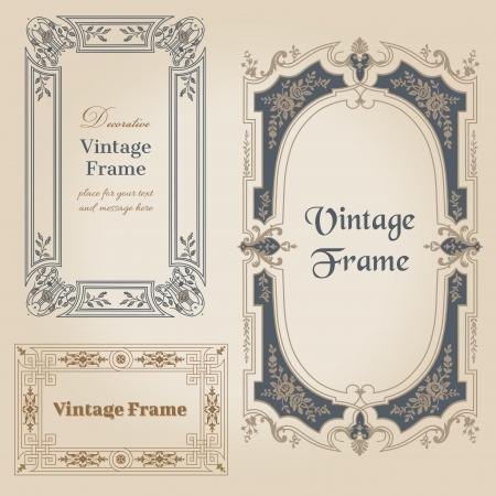 Illustration pour Vintage frames and design elements - with place for your text  - image libre de droit