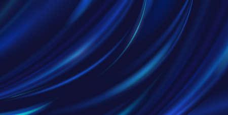 Illustration pour Vector abstract luxury blue background cloth. Silk texture, liquid wave, wavy folds elegant wallpaper - image libre de droit