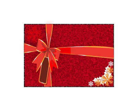 Illustration of Gift box tied with red ribbon