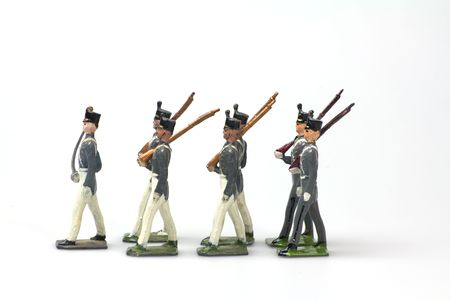 vintage toy soldiers west point cadets made from lead