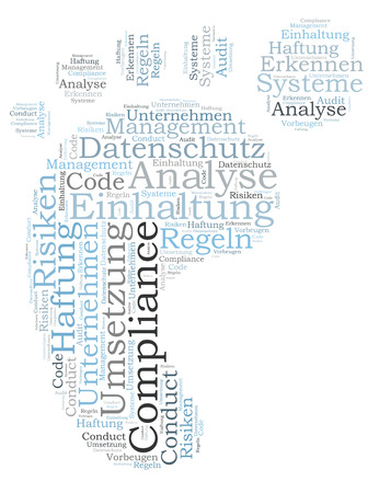 Compliance word cloud shaped as a feed