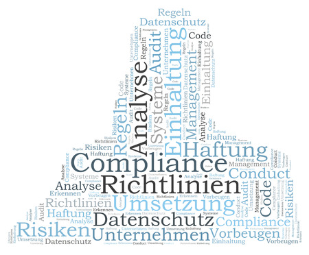 Compliance word cloud shaped as a human body