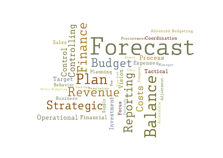 Forecast word cloud