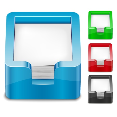 Set of 3D paper tray icons