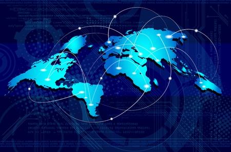 Illustration pour Concept of global business/connections - image libre de droit