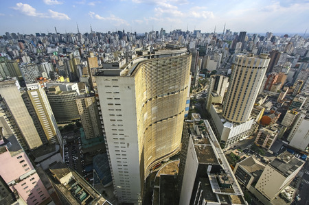 Famous view of skyline of Sao Paulo s downtown, Brazil
