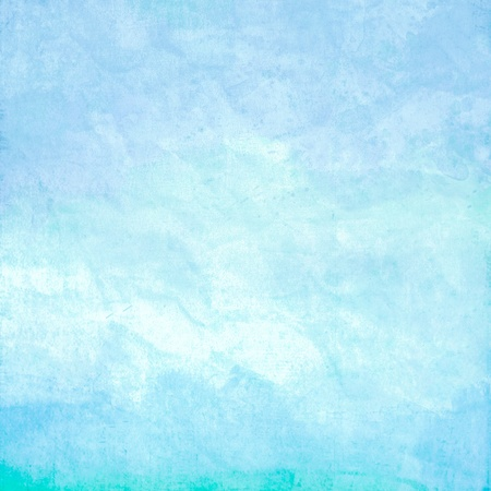 Water color like sky sea or ocean on old paper texture background