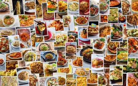 Foto für Huge world cuisine pasta and noodle collage background - Lizenzfreies Bild