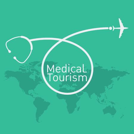 Illustration pour medical tourism vector background - image libre de droit