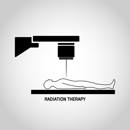 Radiation therapy Medical logo vector icon design