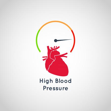 Ilustración de High Blood Pressure vector icon design - Imagen libre de derechos