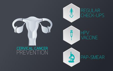 Illustration pour Cervical cancer prevention icon. Vector illustration. - image libre de droit