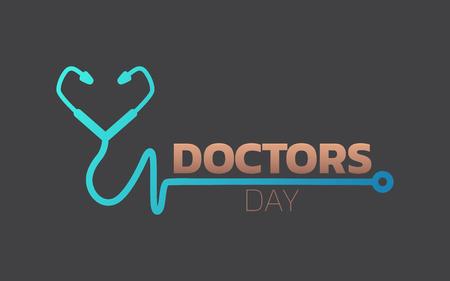 Ilustración de Doctors Day icon design, medical logo. Vector illustration - Imagen libre de derechos