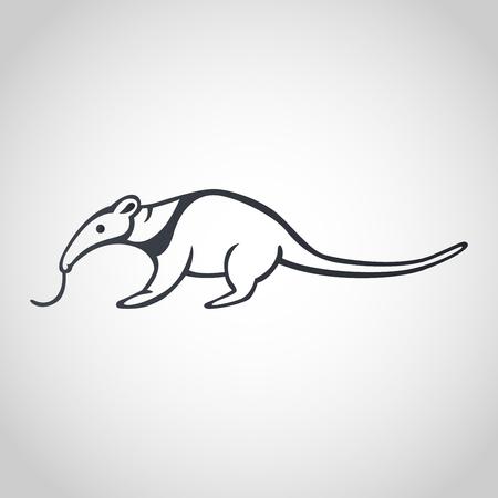 Illustration pour Anteater icon design, vector illustration - image libre de droit