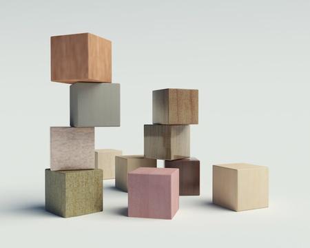 Photo pour wooden blocks on a white background - image libre de droit