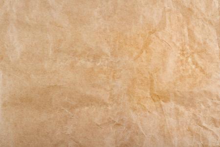 Foto de closeup of brown wrinkled packing paper background texture - Imagen libre de derechos