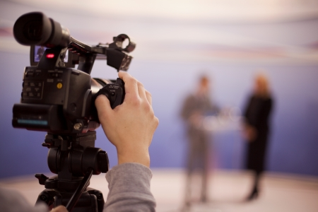 Photo for covering an event with a video camera - Royalty Free Image