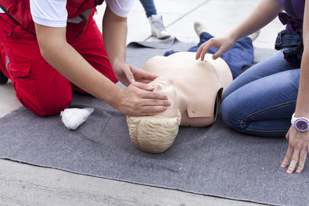 Photo for First aid training detail - Royalty Free Image