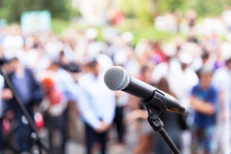 Photo pour Public speaking - image libre de droit